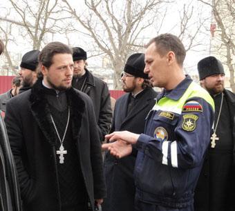 Священники в гостях у спасателей