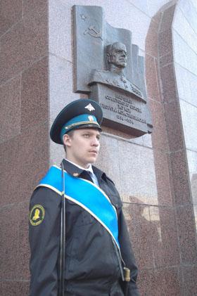 Открыт барельеф Георгия Жукова