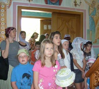 Летний день в православном храме