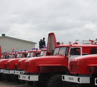 Автопарк сельских пожарных частей пополнился современной спецтехникой