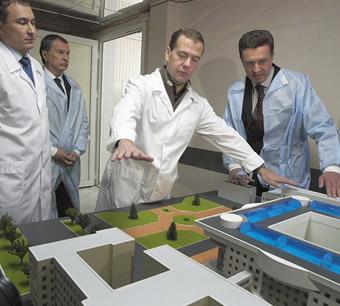 Дмитрий Медведев и Владимир Путин на Ставрополье