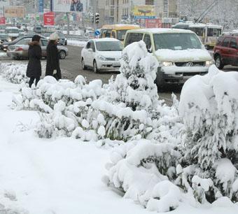 Первый снег - первые трудности