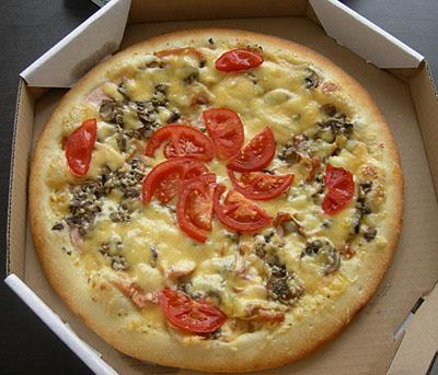 А подать пиццу на дом!