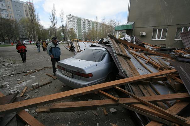 Крышу снесло ураганом