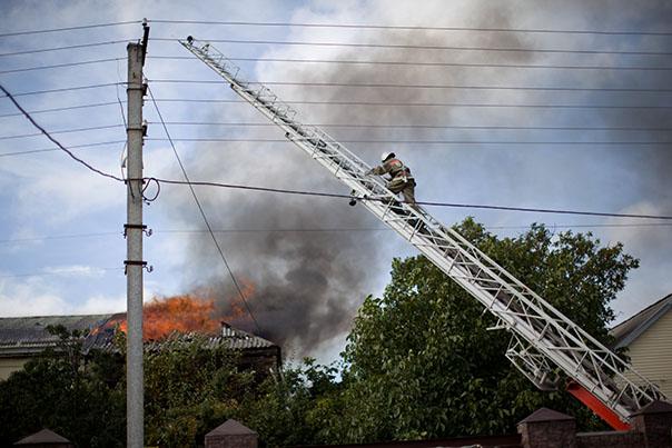 Два пожара на один дом
