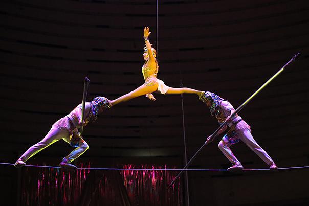 Танцующая лошадь и воздушные гимнасты  никого не оставят равнодушными