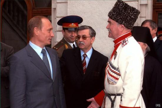 Петр Федосов на встрече Владимира Путина с представителями казачества в Сочи
