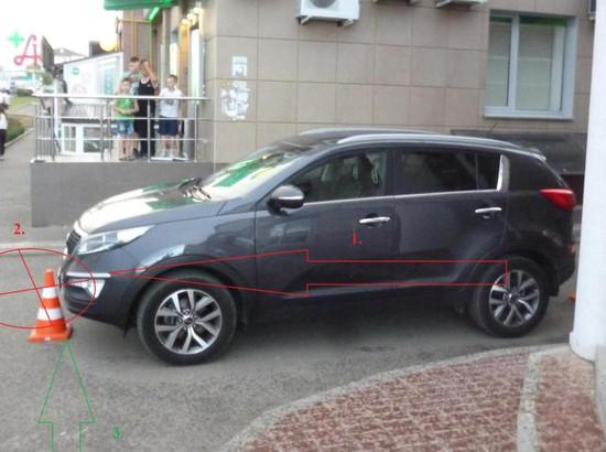 ВСтаврополе водворе многоэтажки иностранная машина сбила 9-летнего ребенка
