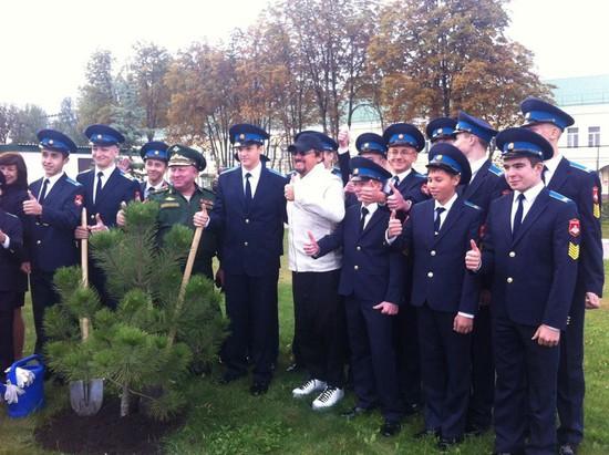 Стас Михайлов навестил сына вСтавропольском кадетском училище