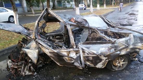 ВДень города молодая ставропольчанка едва несгорела вавто