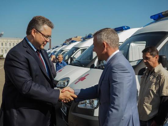 НаСтаврополье станции «Скорой помощи» получили новые автомобили
