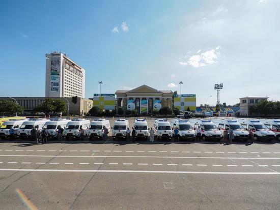 Ставропольский край получил 24 новых машины «Скорой помощи»