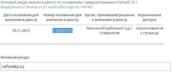 Ставропольский суд запретил качать рефераты из Интернета