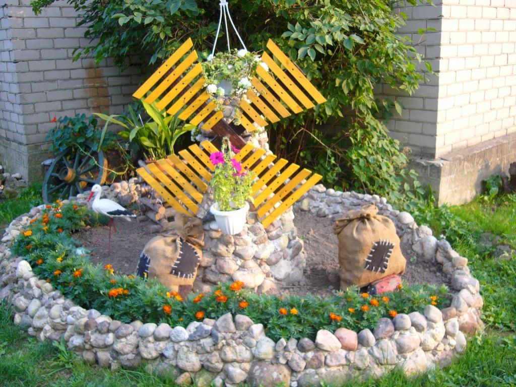Как сделать украшение в сад