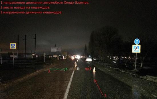 Автоледи сбила 2-х пешеходов на«зебре» наСтаврополье