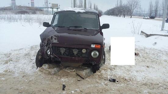 НаСтаврополье шофёр  «Нивы» умер  при столкновении с джипом