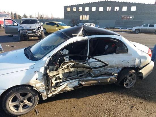 Один человек госпитализирован после ДТП стремя автомобилями вШпаковском районе