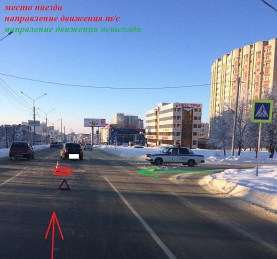 Напешеходном переходе поулице Доваторцев вСтаврополе сбили 55-летнюю женщину