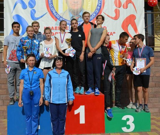 Победители и призеры на пьедестале.