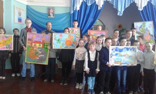 Ирмино. Картины юных художников из Минеральных Вод украсят стены Ирминского интерната.