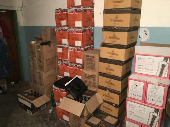 ВЕссентуках полицейские изъяли 20 тыс. бутылок поддельного алкоголя