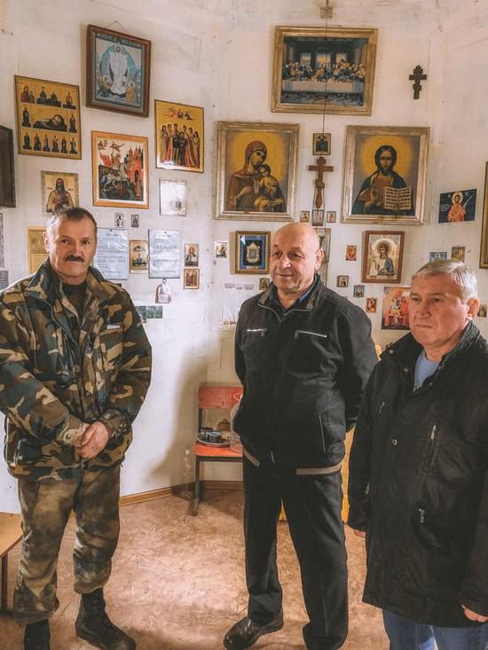 Гости из Евпатории в музее военно-патриотического клуба «Русские Витязи».