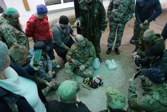 Участие в «интенсиве» приняли руководители военно-спортивных и военно-патриотических клубов, казаки, офицеры СОБРа и ОМОНа.